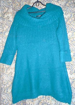 Туника платье с теплой вязкой от george