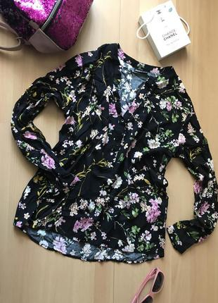 Блуза в цветочный принт janina
