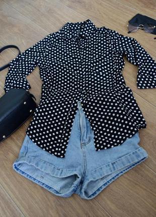 Рубашка в горошек gloria jeans