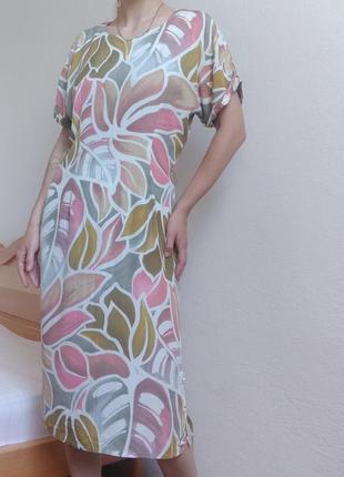 Платье натуральное легке плаття миди