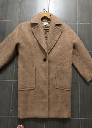 Пальто оверсайз кокон шерсть