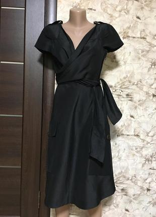 Роскошное льняное платье с шёлком на запах philosophy di alberta ferretti