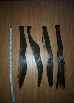 Волосы на заколках 4 клипсы