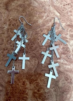 Стильные серьги под серебро accessorize