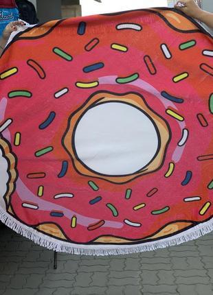 Пляжное полотенце пончик, покрывало
