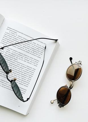 Солнцезащитные овальные имиджевые очки5 фото
