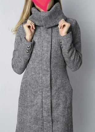 Пальто шерстяное / шерсть /демисезонное пальто