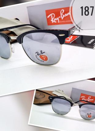 Ray ban rb3016 c7 черные с серыми зеркальными линзами polarized комплект с футляром