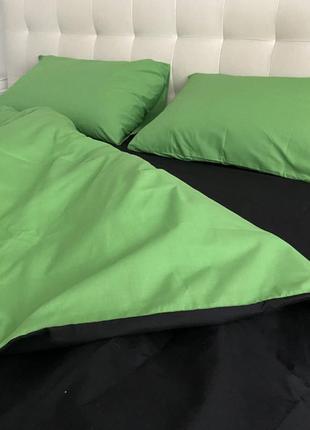 Зелёный и чёрный, постельное белье1 фото