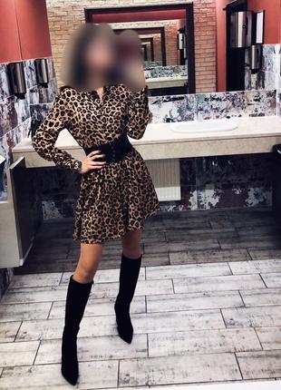 Леопардовое платье stradivarius