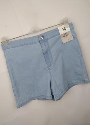 Шорты джинсовые стрейчевые новые голубые стильные denim co uk 14/42/l