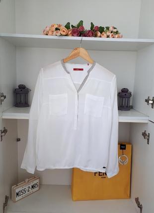 Хлопковая блузка длинный рукав esprit