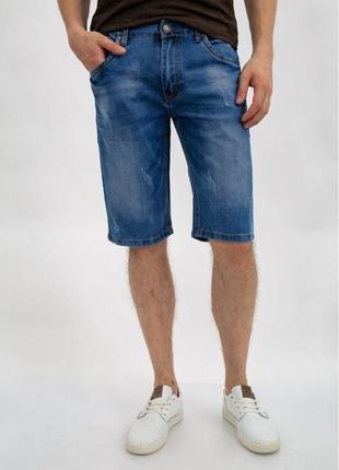 Джинсовые шорты мужские 144r635-8y цвет синий