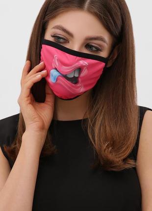 Многоразовая защитная маска с принтом