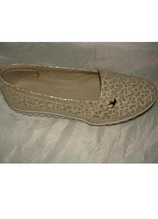 Балетки мокасины туфли кожаные / натуральная кожа 36 39 40 р