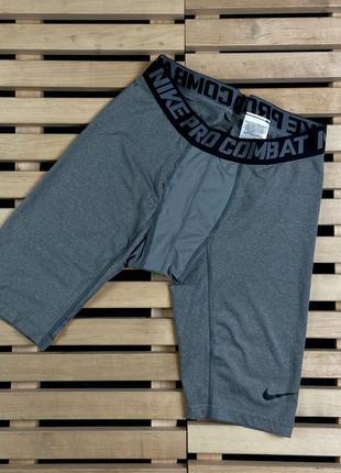 Супер крутые мужские спортивные шорты nike pro combat размер xl
