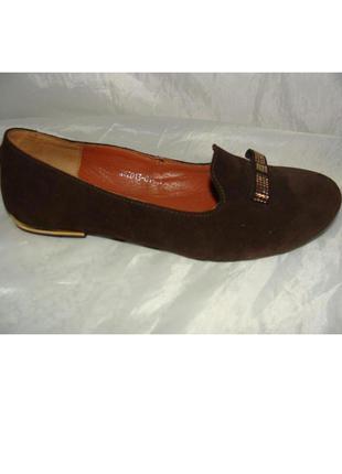 Балетки мокасины туфли замшевые / натуральная замша 36 37 38 39 40 41 р
