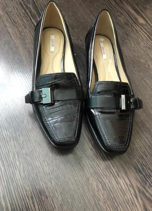 Мокасины тапки туфли кожа geox respira