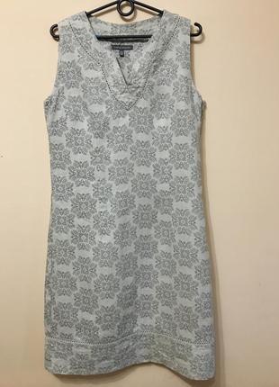 Льняное платье laura ashley 100% лён