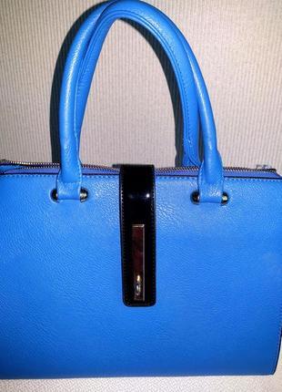 Сумка сине-голубая