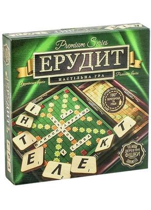 Настольная игра эрудит премиум, деревянный - danko toys g-er-r-01 - scrabble