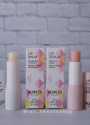 Набор kiko milano, скраб для губ и бальзам для губ!