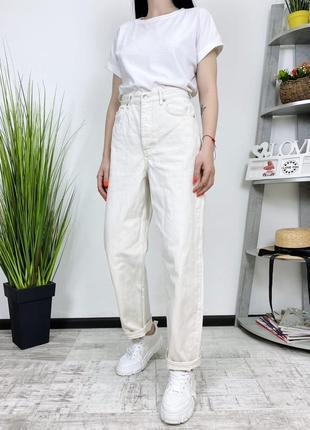 Джинсы высокая посадка плотные в винтажном стиле винтаж мом cos