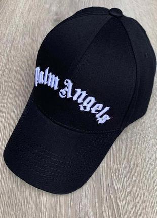 Кепка, бейсболка брендовая palm angels черная