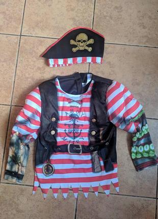 Пиратский костюм с треуголкой 5-6 лет