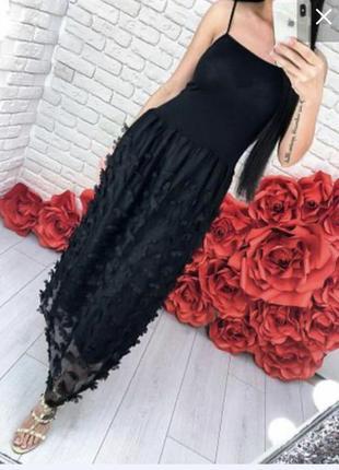 Сарафан с цветами