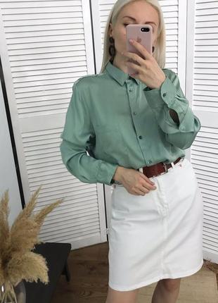 Розкішна фісташкова сорочка, натуральний шовк!