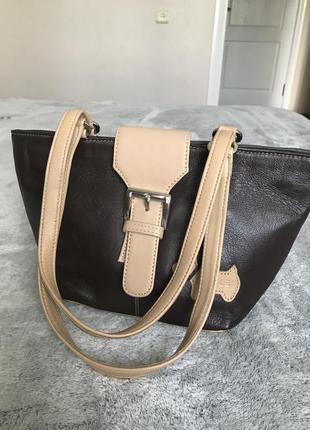 Брендовая кожаная сумка с ручками средней длины оригинал radley