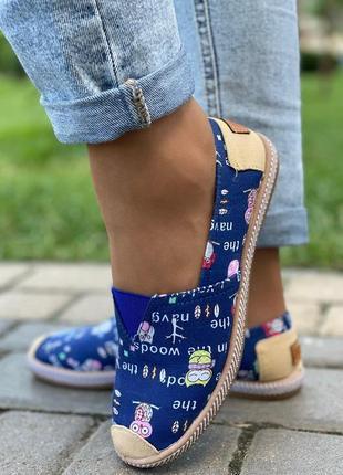 Дизайнерские эспадрильи - туфли. 37-42