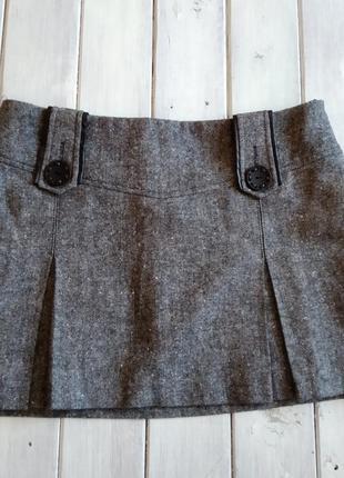 Теплая драповая юбка