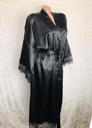 Новый длинный атласный халат