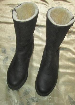 Зимние кожаные сапоги ботинки blackstone