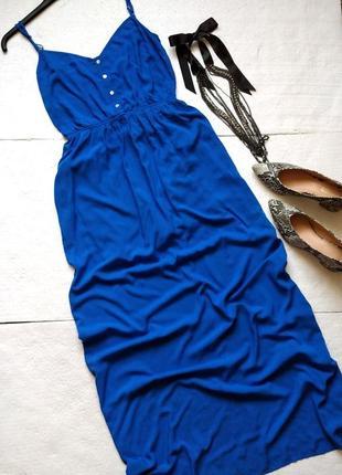 Изумительный длинный сарафан stradivarius из натуральной ткани