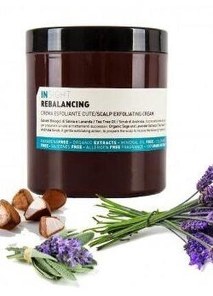 Крем-пилинг для жирной кожи головы insight rebalancing scalp exfoliating cream 180 мл