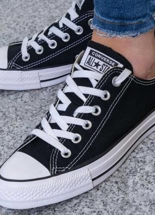 Кеды кроссовки converse all star ox black (40 по 45р) оригинал!! -20%