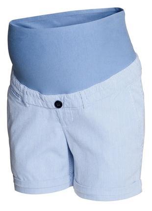 Шорты-чиносы h&m 0244747011 синего цвета для беременных