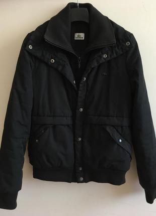 Куртка чорна lacoste/куртка черная lacoste
