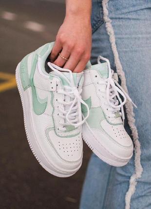 Nike air force 1 low shadow 🔺 женские кроссовки найк еир форс мятные