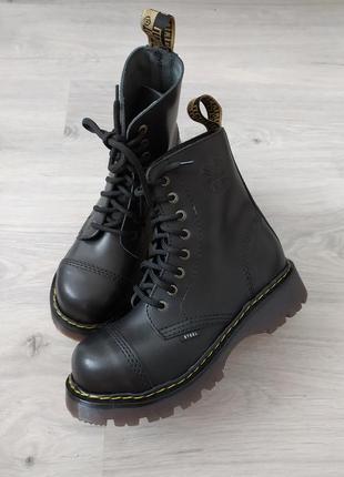 Steel, стилы ботинки, кожаные берцы со стальным носком