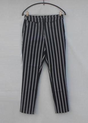 Классические высокие брюки в полоску