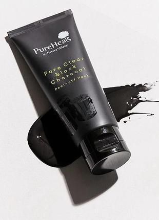 Чёрная маска-плёнка pureheals для очищения пор
