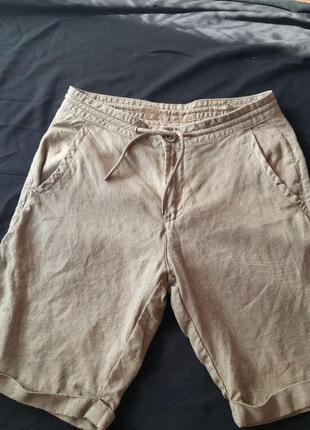 Льняные мужские шорты colins оригинал