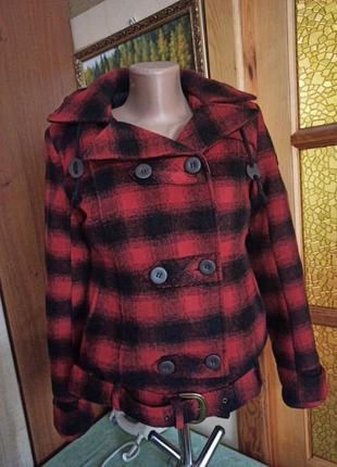 Пальто куртка, пуховик . клетка timberland оригинал