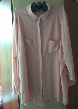 Женская летняя рубашка большого размера atmosphere