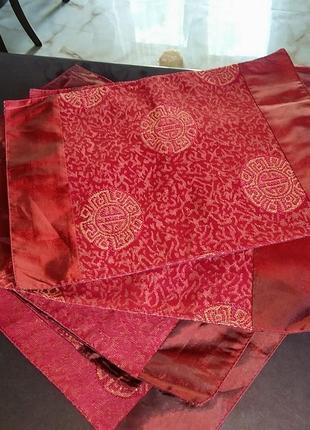 Текстильные плейсматы в китайском стиле, подложки под тарелки, коврики