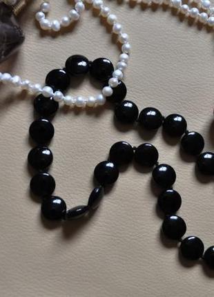 Стильное ожерелье чёрного цвета